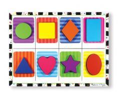 Melissa & Doug- Shapes Chunky Juego Puzzle con 8 Piezas, 2-4 Años, Multicolor (13730)
