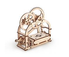 Ugears Caja Mecánica Mecánico 3D Rompecabezas de Madera Kit de Construcción Sin Pegamento Para Niños y Adultos