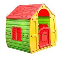 KitGarden - Caseta Infantil Juegos Jardin, 102x90x109 cm, Multicolor, Magical House