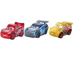 Cars - Pack de 3 Vehículos Mini Racers, Coches de Juguete (Mattel FPT71)