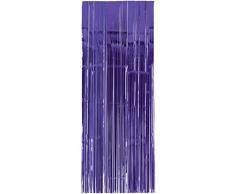 Amscan International – 24200 – 106 91 cm x 2,43 m morado cortina de puerta
