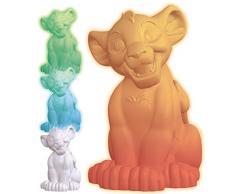 LEXIBOOK- Disney El Rey León-Luz Nocturna de Simba, lamparita de mesita de Noche, quitamiedos niños NLJ105AN, Color