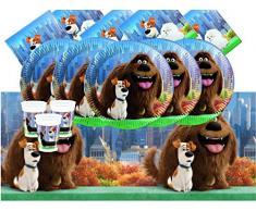Universal bpwfa-58 la vida secreta de mascotas Party Set de vajilla para 8 personas
