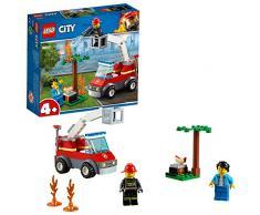 LEGO City Fire- City Fire Incendio en la Barbacoa Juguete de construcción de rescate de bomberos, incluye camión con grúa y minifiguras, Multicolor (Lego ES 60212)