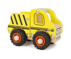 Small Foot Company Vehículo de construcción Small Foot Fabricado con Madera certificada 100% FSC, para niños a Partir de 18 Meses, también Apto para el Juego al Aire Libre Gracias a Sus Grandes neumáticos de Goma. Juguetes,