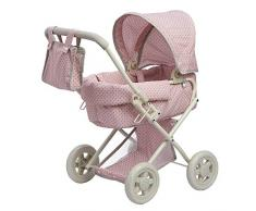 Olivias Little World- Cochecito de bebé, Color Lunares Rosa y Gris (Teamson OL-00003)