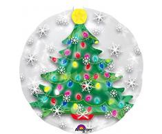 Amscan International - 3396601 globo en forma de árbol de Navidad