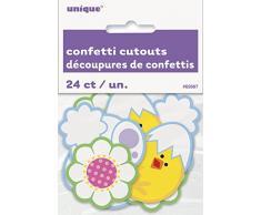Papel Confeti Out y decoraciones de pollito de conejo de Pascua, 24 unidades