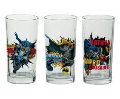United Labels Batman 0109495 - Set de 3 vasos de cristal, 300 ml