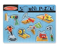 Melissa & Doug- Construction Tools Sound Puzzle (10733)