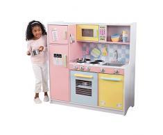KidKraft- Cocina de juguete de madera, para niños, con accesorios para juegos de dramatización incluidos , Color Pastel (53181)