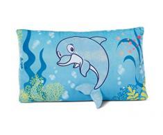 Nici 45361 - Cojín de Peluche, 43 x 25 cm, diseño de delfín para niñas, niños y bebés