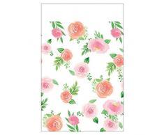 Amscan International 572165 - Vajilla de plástico para mantel, diseño floral