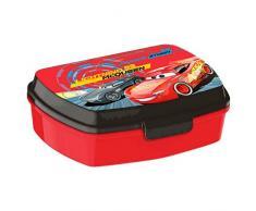 Kids Euroswan Sandwichera Estampado Cars 3, Plástico, Multicolor, 15x10x5 cm
