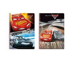 Cars- Disney Libreta Folio 80 Hojas Tapas duras, 215 x 310 mm (SAFTA 511709066)
