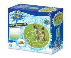 Xtrem Toys 00326 Happy Sprinkler - Juguete Divertido para niños a Partir de 6 años, Ideal para el jardín, en Verano, fácil de conectar a la Manguera de jardín, Multicolor