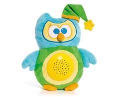 Molto- Light Owl Gusy Luz Proyector Musical de Peluche Lámpara, Color Azul/Amarillo (18543)