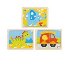 Goki 57487 Puzzle - Rompecabezas (Rompecabezas para Suelo, Niño pequeño, 2 año(s), Madera, Multicolor, CE)