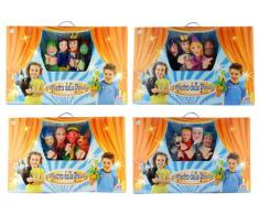 Grandi Giochi - Teatro con 4 marionetas , Modelos/colores Surtidos, 1 Unidad