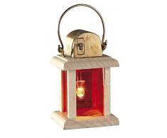 Kahlert Licht LED Linterna con Madera, sin Cables, Burn Time Aproximadamente 50 Horas, 6 CM