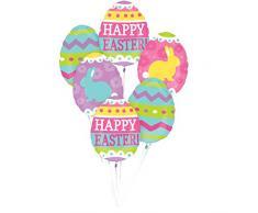 Amscan 3700501 – Globo Juego de Pascua Huevos Caza , color/modelo surtido