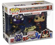Marvel- Figura de Vinilo Pop Capcom Black Panther vs Monster Hunter, Color Multicolor, Estándar (22780)