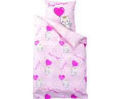 United Labels Angelcat sugar AG 107117 - Juego de cama (funda de edredón + funda de almohada, 135 x 200 cm / 80 x 80 cm) [importado de Alemania]