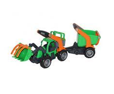 Polesie Polesie48431 Griptrac - Vehículo de Juguete con Pala Delantera y Remolque con Lavabo