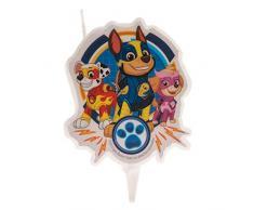 Dekora-346226 Chase, Skye, Marshall Vela de Cumpleaños en 2D de La Patrulla Canina, Color azul (346226