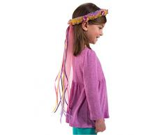 DREAMY DRESS-UPS Corona de Flores de Arco Iris, tamaño único, de la Marca