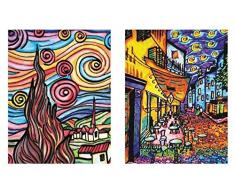 Colorvelvet 32 x 26,5 x 4 cm Van Gogh Carpeta (Multicolor)