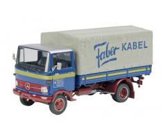Dickie-Schuco 450360300 - Camión LP 608 MB Kleigrewe (escala 01:43, edición limitada de 500 piezas, incluye vitrina), color azul