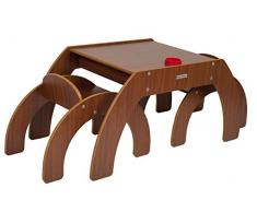 Little Helper TC/fsd01 - de 3 G - Fun Station Duo Kleinhuis Juego de Mesa y 2 sillas Infantil con portalápices, Nogal