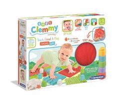 Clementoni- Soft Sensoriels Clemmy-- Alfombra de estimulación para bebés, diseño de Primera Edad, Fabricado en Italia, 10 Meses y más, 17352, Multicolor