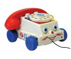 Fisher-Price 1694 - Teléfono de Juguete con Cuerda para Tirar