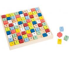 small foot company- Sudoku Educate de Madera con Coloridos Cubos numéricos, Entrena la comprensión de los números. Juguetes, Multicolor (Small Foot by Legler 11164)