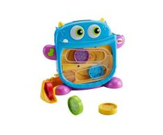 Fisher-Price- Laberinto del monstruito tragón, Juguete bebé, Multicolor (Mattel DRG11)