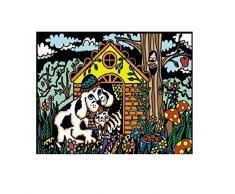 Colorvelvet 37 x 28 cm casa de perro sistema de dibujo para colorear (tamaño mediano, multicolor)