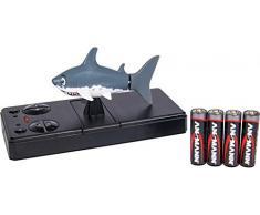 Carson 500108028 500108028-RC Sharky 40MHz 100% RTR, Incluye Vitrina de almacenaje, función de Carga en el Control Remoto, Control Remoto, Barco teledirigido, Gris