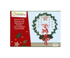 Avenue Mandarine - Caja Creativa, Corona de Navidad, kc061 C, Sujetadores