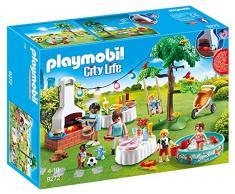 Playmobil Casa Moderna- Fiesta en el Jardín Playset de figuras de juguete, Multicolor, 9,4 x 24,8 x 34,4 cm (Playmobil 9272)