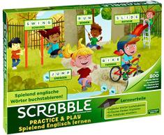 Mattel Games Scrabble Practice and Play, Juego de Mesa Infantil Educativo (Mattel FTG51)