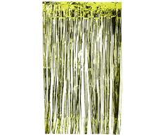Amscan International – 24200 – 53 91 cm x 2,43 m Kiwi verde cortina de puerta