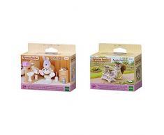 SYLVANIAN FAMILIES Toilet Set Mini muñecas y Accesorios, (Epoch para Imaginar 3563) + 4533 Carrito para Gemelos [Importado de Alemania]