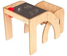 Little Helper TC/fsmh01 - de 5 g - Diseño de Inspirada Fun Station Solo Chalky Juego de Mesa, Escritorio y Silla Infantil con portalápices, Natural/Schwartz