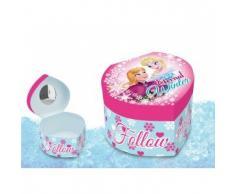 Disney Frozen - Joyero con Espejo corazón, 12 x 11 x 8 cm (Kids WD92051B)