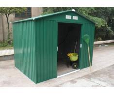 Caseta de jardín de acero galvanizado verde KIOSKO - 5.9m²