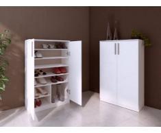 Blanco Mueble zapatero MATHIAS - Color blanco - 2 puertas