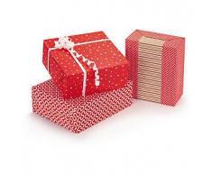 Papel de regalo rojo y blanco