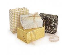 Papel de regalo oro
